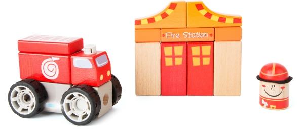 Brigada de pompieri - set de construit cu sunet 2