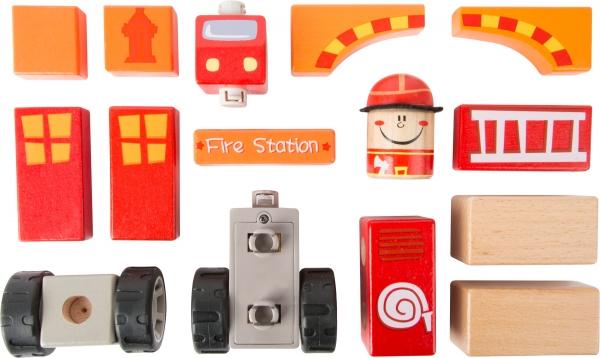 Brigada de pompieri - set de construit cu sunet 1