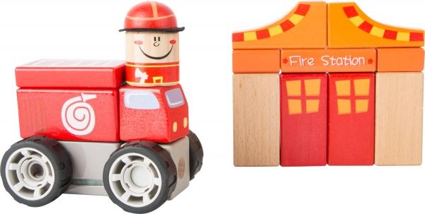 Brigada de pompieri - set de construit cu sunet 0