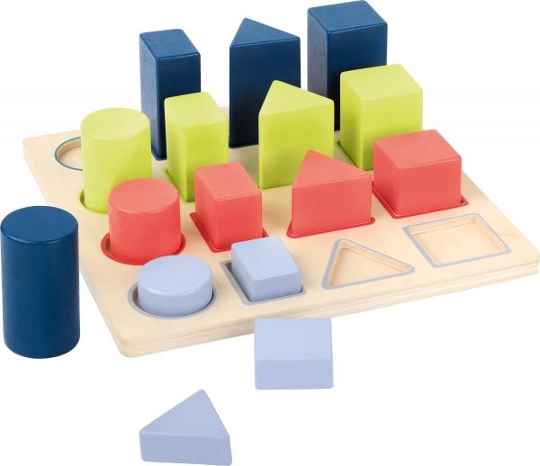 Forme si culori, puzzle 3D din lemn 2