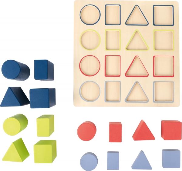 Forme si culori, puzzle 3D din lemn 1
