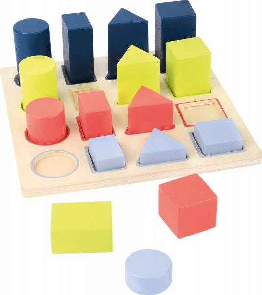 Forme si culori, puzzle 3D din lemn 4