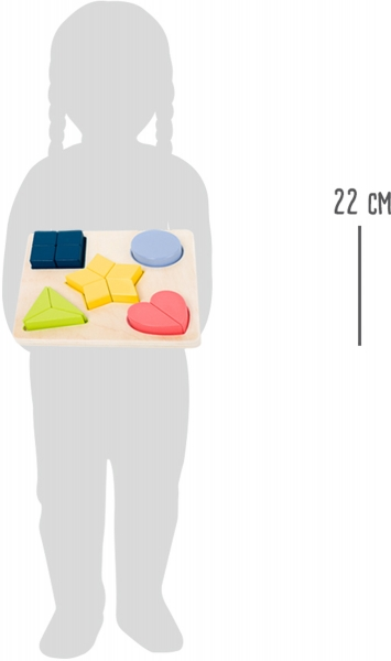 Puzzle educativ Potriveste Formele 6