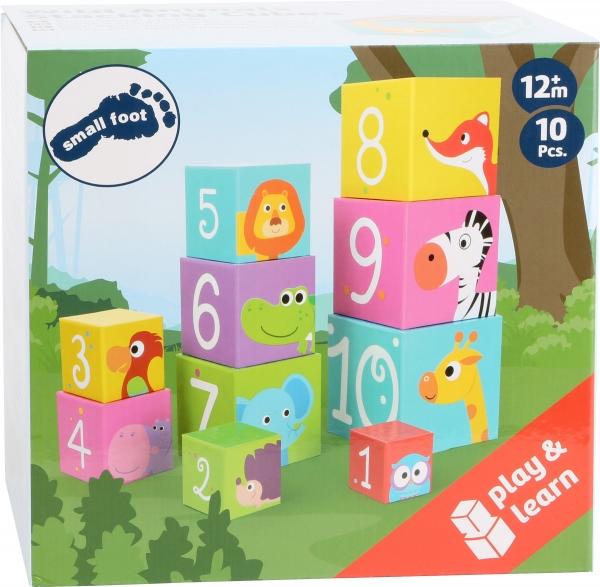 Cuburi de construit cu animale salbatice 3