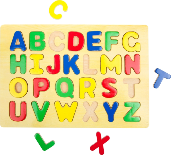 Puzzle lemn Invata literele 0