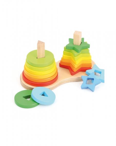 Piramide curcubeu Montessori 3