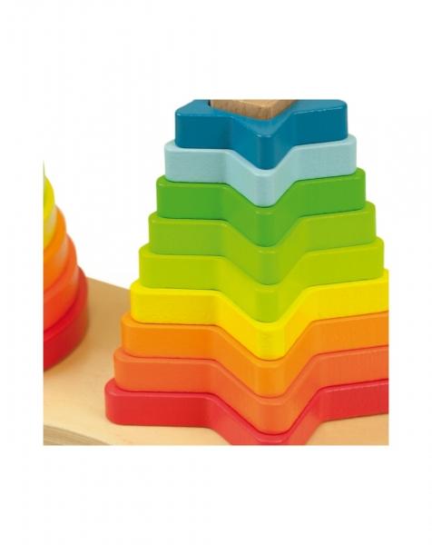 Piramide curcubeu Montessori 5