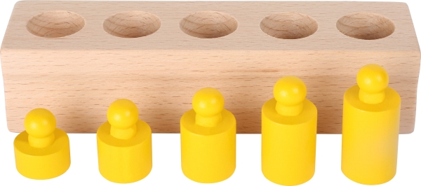 Joc cilindri colorati Montessori 6