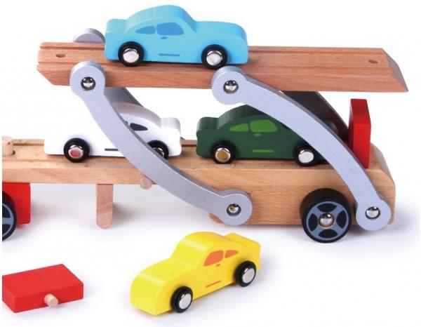 Platforma transport masinute din lemn 2
