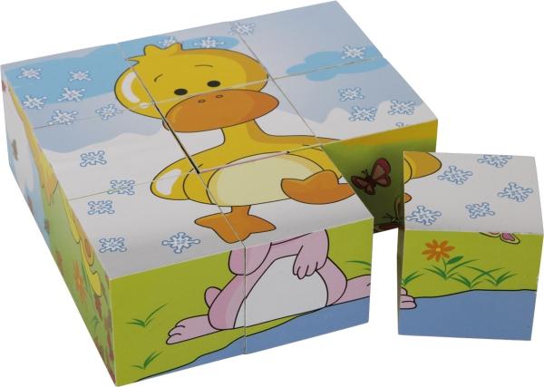 Puzzle cub din lemn Animalele 6