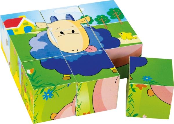 Puzzle cub din lemn Animalele 5