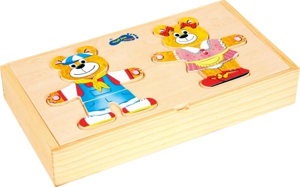 Puzzle lemn Imbraca ursuletii 2