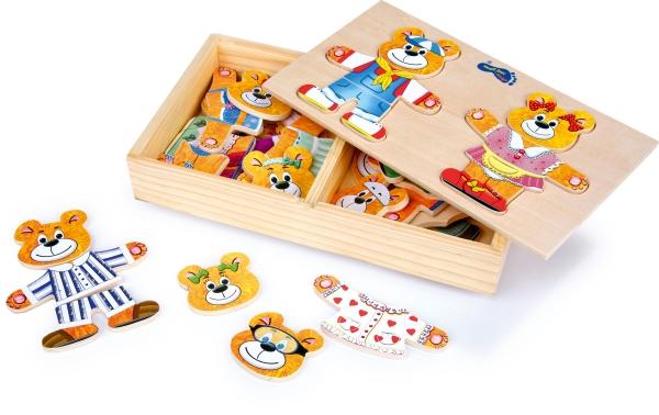 Puzzle lemn Imbraca ursuletii 1
