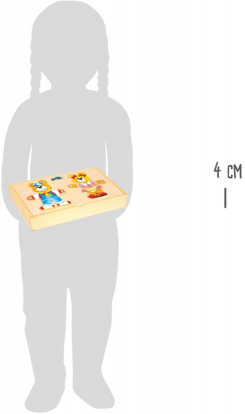 Puzzle lemn Imbraca ursuletii 3
