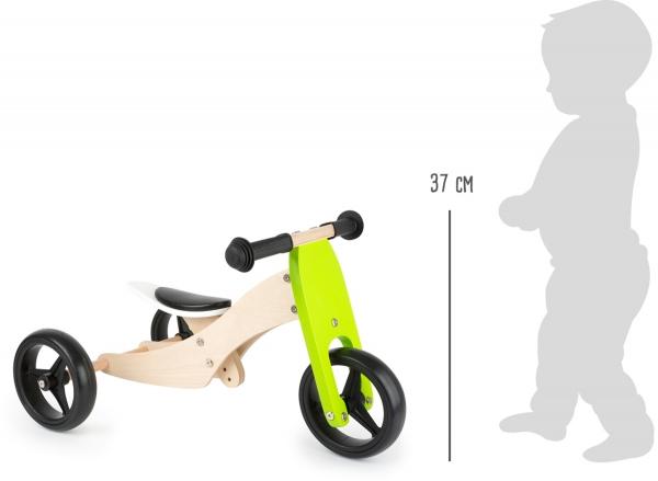 2 in 1 Tricicleta si Bicicleta din lemn 2